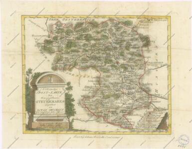 Vollstaendige Post-Karte des Herzogthums Steuermarks