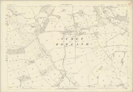 Devon LIV.1 (includes: Coldridge; Lapford; Nymet Rowland) - 25 Inch Map