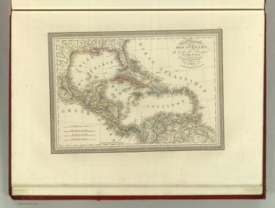 Carte Particuliere des Antilles du Golfe du Mexique avec l'Isthme de Panama.