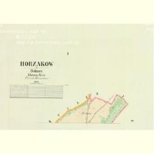 Horzakow - c2201-1-001 - Kaiserpflichtexemplar der Landkarten des stabilen Katasters