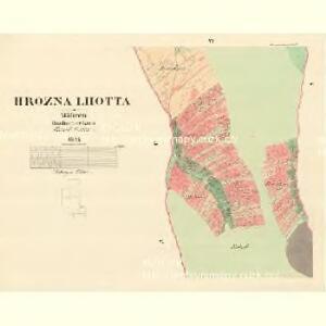 Hrozna Lhotta - m0909-1-006 - Kaiserpflichtexemplar der Landkarten des stabilen Katasters