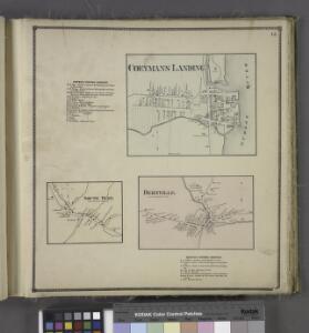 Coeyman's Business Directory. ;Coeymans Landing [Village]; South Bern. [Village]; Bernville. [Village]; Bernville Business Directory