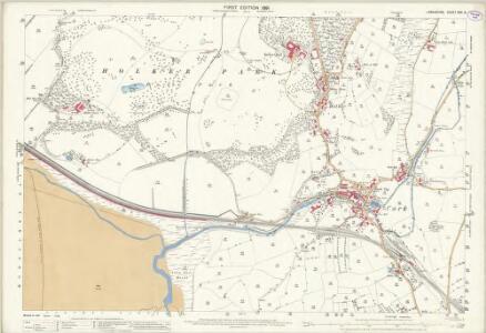 Lancashire XVII.6 (includes: Lower Allithwaite; Lower Holker) - 25 Inch Map