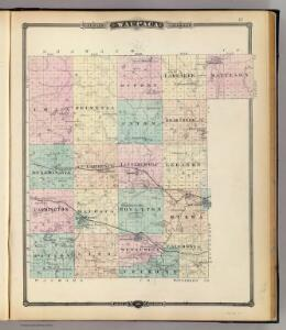 Map of Waupaca County, State of Wisconsin.