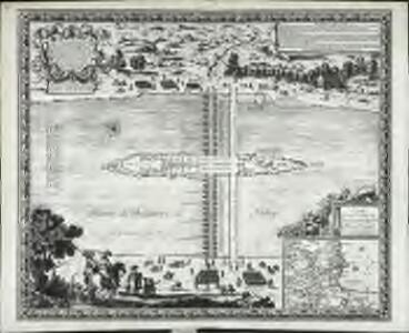 Plan de l'isle des Faisans, a present dite de la Conference