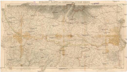 Strassen-Karte der Lombardischen Ebene