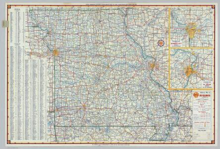 Shell Highway Map of Missouri.