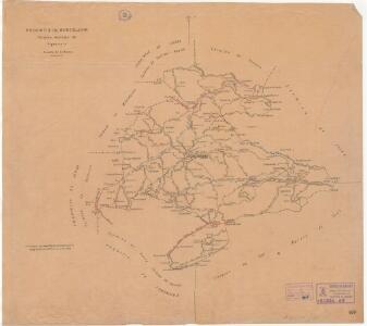 Mapa planimètric del terme municipal d'Argençola