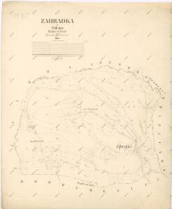Katastrální mapa obce Zahrádka