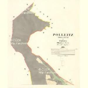 Polleitz (Pollečz) - m2350-1-001 - Kaiserpflichtexemplar der Landkarten des stabilen Katasters