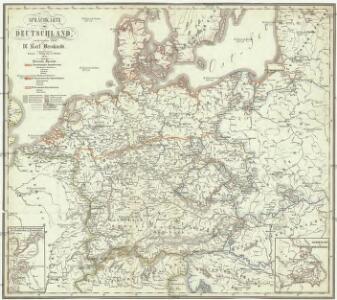 Sprachkarte von Deutschland