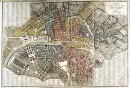 Plan routier de la ville et faubourg de Paris