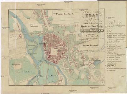 Plan der königlichen freien Kreis und Bergstadt böhm. Budweis vom Jahre 1841