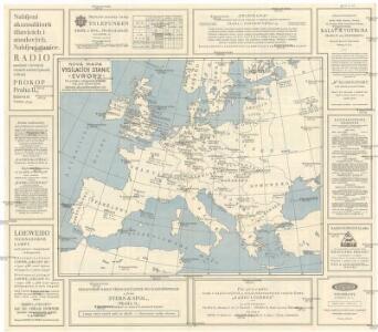 Nová mapa vysílacích stanic Evropy