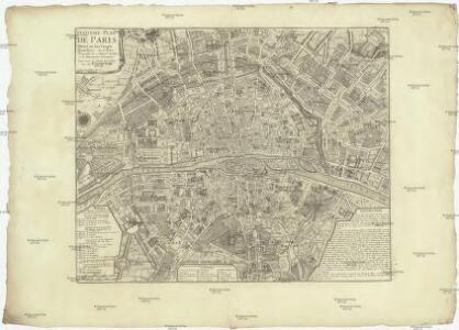 Huitieme plan de la ville de Paris divisé en ses vingts quartiers