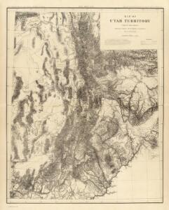 Map of Utah Territory.
