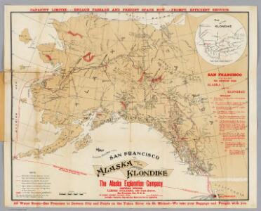 Map Showing Routes From San Francisco To Alaska And The Klondike.
