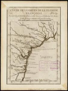 Carte des costes de la Floride Françoise, suivant les premieres découvertes