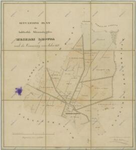 Hospodářská mapa pozemků dvora Lhota 1