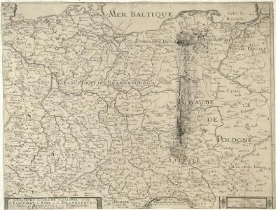 Le Cours de l'Elbe et de l'Oder où sont les Electorats de Saxe et de Brandebourg, les Duchés de Mekelbourg et de Pomeranie