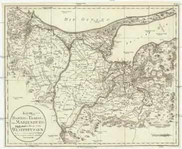 Karte von Danzig, Elbing, und Marienburg oder erstes Blat von Westpreussen