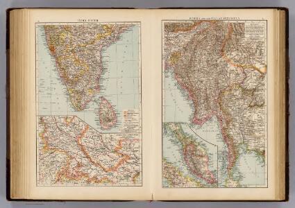 India South, Burma, Malay Peninsula.