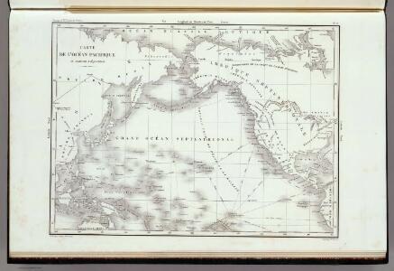 Carte De L'Ocean Pacifique Au Nord De L'Equateur.