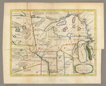 Plan of Captain Carvers Travels in the interior Parts of North America.