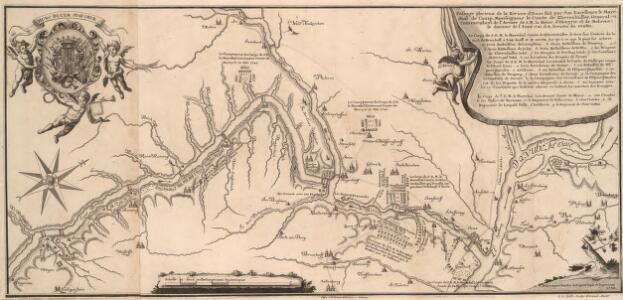 Passage glorieuse de la Riviere d'Enns fait par Son Excellence le Marechall de Camp, Monseigneur le Comte de Kevenhüller General Commendant de l'Armée de S. M. la Reine d'Hongrie et de Boheme, le dernier de l'Anne 1741 â 8. heures du Matin.