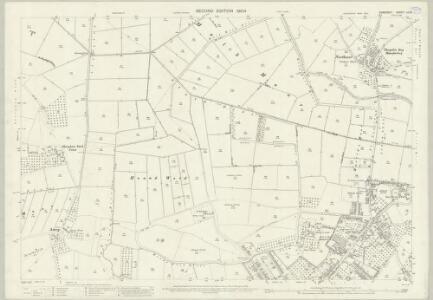Somerset LII.10 (includes: Glastonbury; Sharpham; Street; Walton) - 25 Inch Map