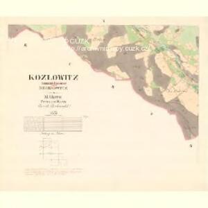 Kozlowitz - m1320-1-009 - Kaiserpflichtexemplar der Landkarten des stabilen Katasters
