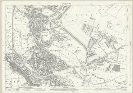 Staffordshire XXXVII.11 (includes: Hopton And Coton; Stafford) - 25 Inch Map