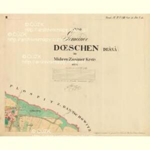 Doeschen - m0425-1-002 - Kaiserpflichtexemplar der Landkarten des stabilen Katasters