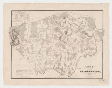 Map of Bridgewater, Mass