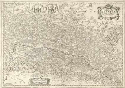 Vtriusquae Alsatiae superioris ac inferioris Nova Tabula
