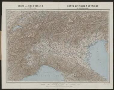 Karte von Ober-Italien