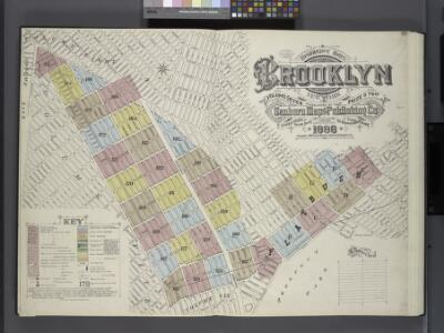 Insurance Maps of the Brooklyn city of New York Volume Seven. Published by the Sanborn map co. 117, Broadway, New York. 1888.