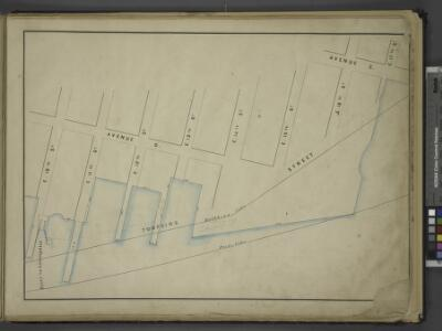 [Map bounded by Avenue D, Avenue C, E. 17th St, Pier  - Line, E. 10th St; Tompkins Street, Ferry to Greenpoint, E. 11th St, E. 12th    St, E. 13th St, E. 14th St, E. 15th St, E. 16th St]