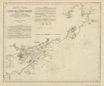 Eldridge's new chart from Lynn to Halibut Point : with the harbors of Salem, Beverly, Marblehead, Manchester, Gloucester & Rockport, compiled from the latest surveys