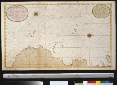 Wassende graade kaart van de Spaanse Zee van het Canaal tot voorbij de Vlaemse Eijlanden