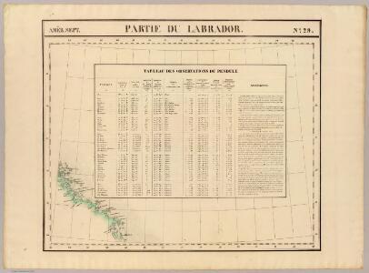 Partie du Labrador. Amer. Sep. 29.