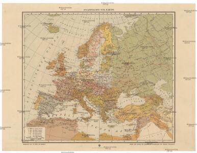 Staatenkarte von Europa