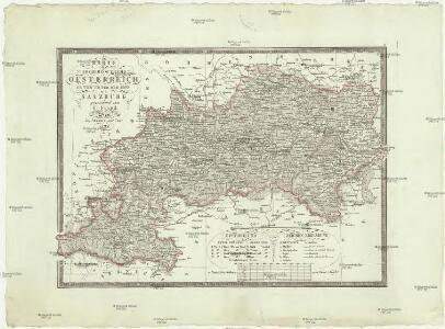 Karte des Erzherzogthums Oesterreich ob und unter den Enns mit Salzburg