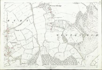 Gloucestershire VII.11 (includes: Aston Subedge; Chipping Campden; Saintbury; Weston Subedge) - 25 Inch Map