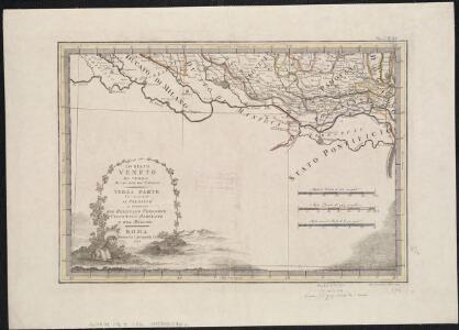 Lo Stato Veneto da terra diviso nelle sue provincie, terza parte che comprende il polesine e porzioni del Bresciano Veronese Vicentino Padovano e del Dogado