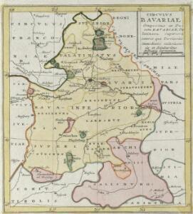 Circvlvs Bavariae Compositus ex Ducatu Bavariae, Palatinatu superiore ceteris que Territoriis emmediatis ecclesiasticis et Secularibus