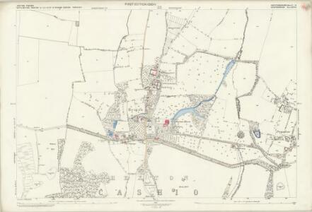 Hertfordshire VI.14 (includes: Barton in The Clay; Hexton; Higham Gobion; Shillington) - 25 Inch Map