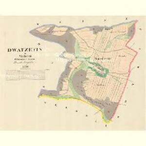 Dwatzetin - m3250-1-001 - Kaiserpflichtexemplar der Landkarten des stabilen Katasters