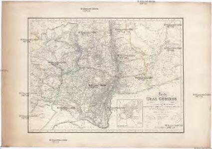Karte vom URAL GEBIRGE