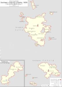Herzogtum Sachsen-Coburg und Gotha 1830 Verwaltungsstruktur